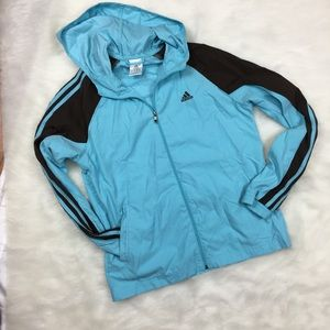 Adidas  vintage robin egg blue zipper jacket sz m